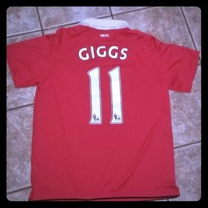 Throwback NIKE Authentic Giggs MUFC Soccer Jersey